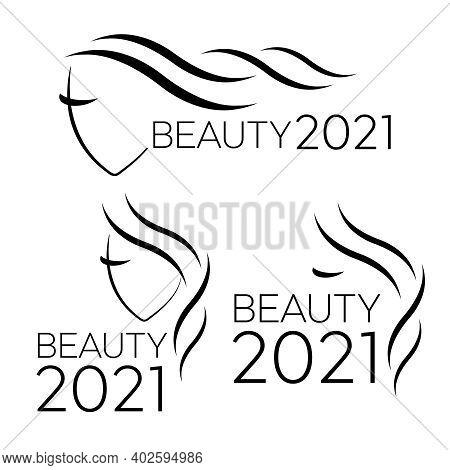 Vector Logo Template For Hair Salon. Logo Hair Vector