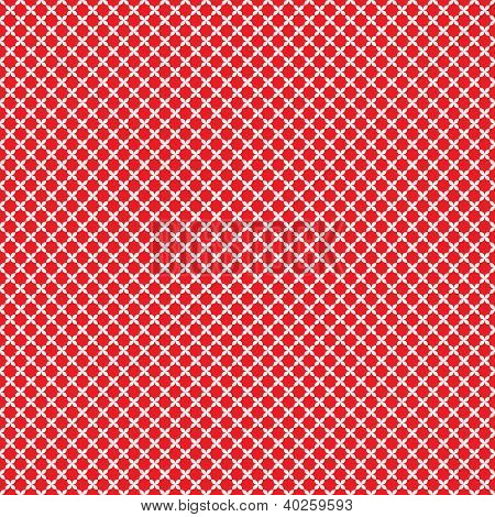 Seamless Red & White Pattern