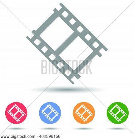 Cinema Film Strip Vector Icon Illustrator Isolated On White Background