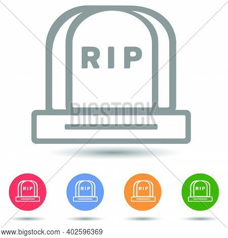 Grave Tomb With Text Rip Vector Icon