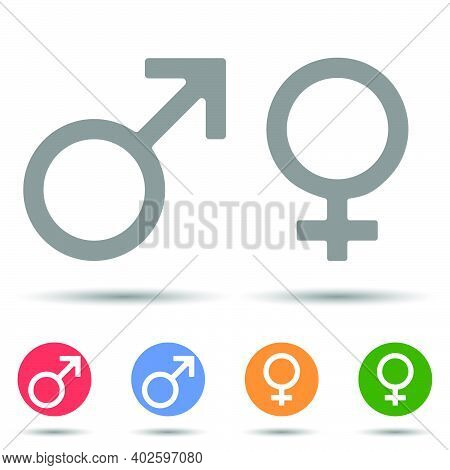 Gender Symbol Icon Vector In Simple Style