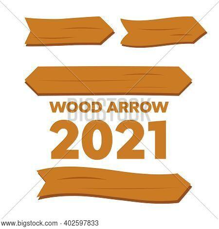 Wooden Planks Set. Cartoon Wood Texture Signs