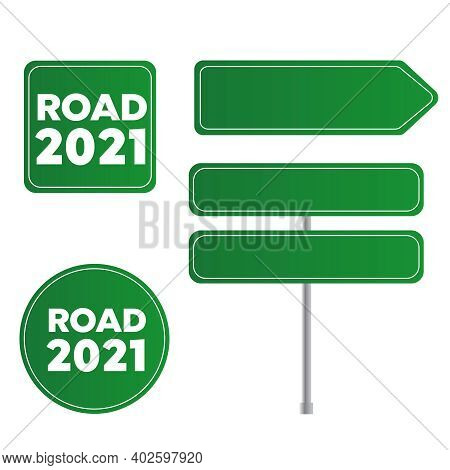 Road Traffic Sign. Sign Street. Arrow Blank Sign