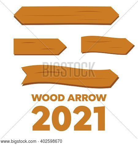 Cartoon Wooden Plank Signs. Wooden Sign Vector. Retro Western Signs With Empty Space On Wood