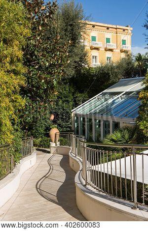 Historic Luxury Hotels In Sunny Day, Sorrento, Italy