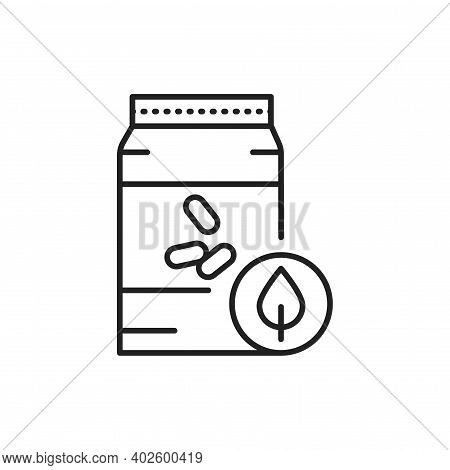 Organic Non-grinding Rice Color Line Icon. Pictogram For Web Page, Mobile App, Promo.