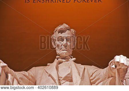 Washington, United States - 04 Jul 2017: The Lincoln Memorial In Washington, United States