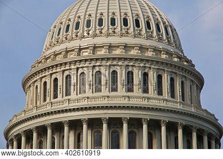 Washington, Usa - 04 Jul 2017: Capitol In Washington, United States