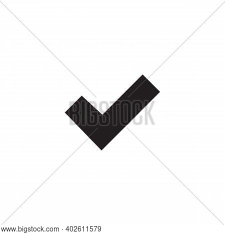 Check Mark Icon Isolated On White Background. Check Mark Icon In Trendy Design Style.