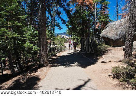 Yosemite, United States - 11 Jul 2017: Yosemite National Park In California, Usa