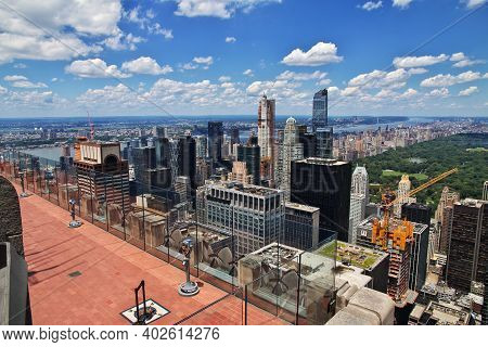 New York, United States - 02 Jul 2017: The View From Rockefeller Center In New York City, United Sta