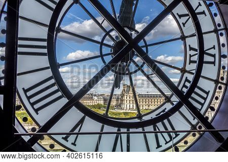 Paris, France - 09-10-2018: Aerial View Of Paris From The Clock Of The Orsay Museum In Paris