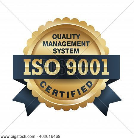 Iso 9001 Conformity To Standards Icon - Golden Medal Award With International Quality Management Sys