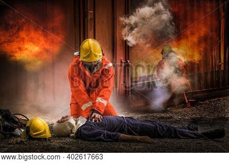 Firefighters Save Lives From Fire By Making Cpr.