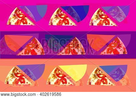 Photo Background Pop Art Different Pizza Poster