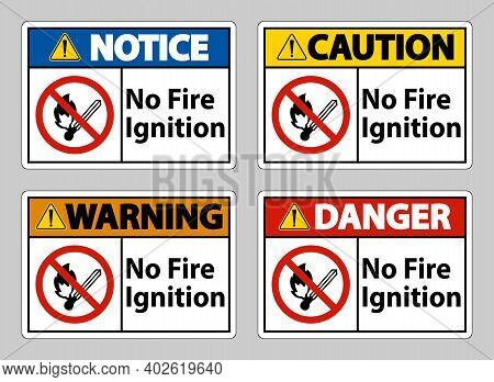 No Fire Ignition Symbol Sign On White Background