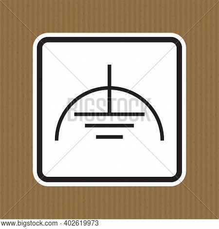 Noiseless Earth Clean Ground Symbol Sign, Vector Illustration, Isolate On White Background Label. Ep