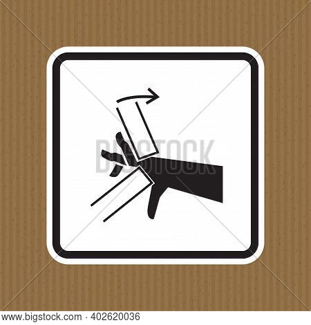 Hand Crush Pinch Point Symbol Sign Isolate On White Background,vector Illustration