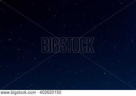 Starry Sky At Night Background, Outer Space Sky Texture