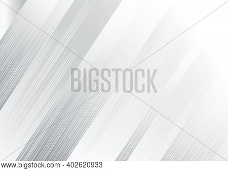Abstract White Grey Background Modern Stripe Gradient Color Oblique Line Texture. You Can Use For Ad