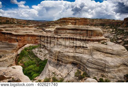 Sipapu Bridge in Natural Bridges National Monument. Utah, USA