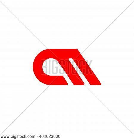 Letter Cm Simple Geometric Line Symbol Logo Vector