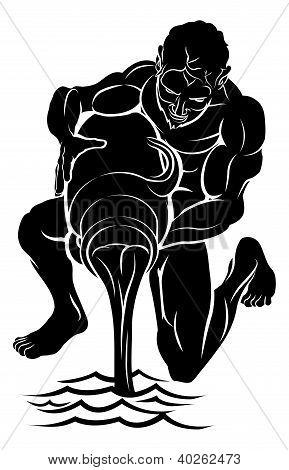Stylised Water Bearer Illustration