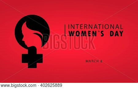 Happy Women Day Greeting Card Illustration. International Women S Day Card. Women S Friendship. Vect