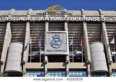 Madrid, Spain-september 30:santiago Bernabeu Stadium Of Real Madrid On September 30, 2012 In Madrid,