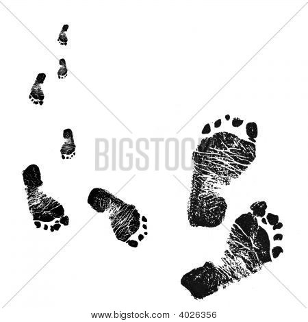 Black & White Footprints