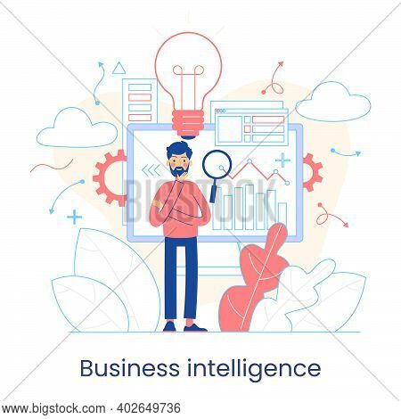 Enterprise Strategy Development Concept. Big Data Analytics. Business Intelligence. Business Rule. D
