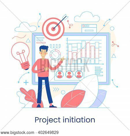 Project Initiation, Project Closure, Deadline Concept. Business Analysis. Terms Of Implementation Of