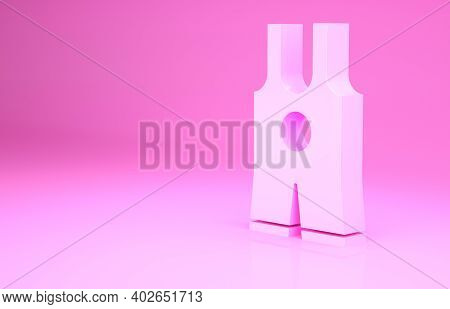 Pink Wrestling Singlet Icon Isolated On Pink Background. Wrestling Tricot. Minimalism Concept. 3d Il
