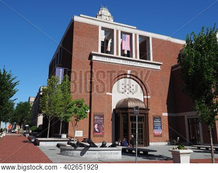 Philadelphia, Usa - June 11, 2019: The Entrance Of The Museum Of The American Revolution In Downtown