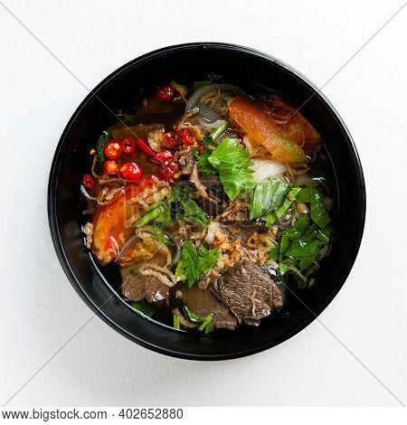 Oxtail Soup Or Beef Soup Is A Popular Dish In Thailand.