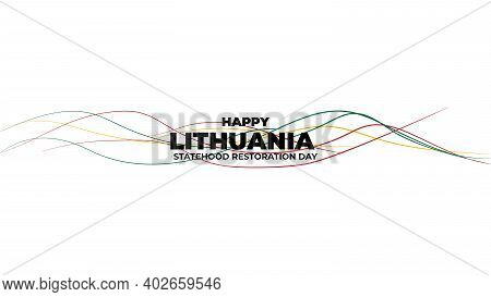 White Background Design For Lithuania Statehood Day Design.