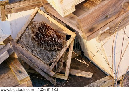 Assorted Selection Of Beekeeping Paraphernalia And Some Handmade Wooden Frames