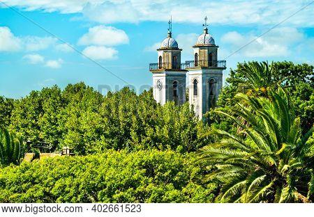 The Basilica Of The Holy Sacrament In Colonia Del Sacramento. Unesco World Heritage In Uruguay