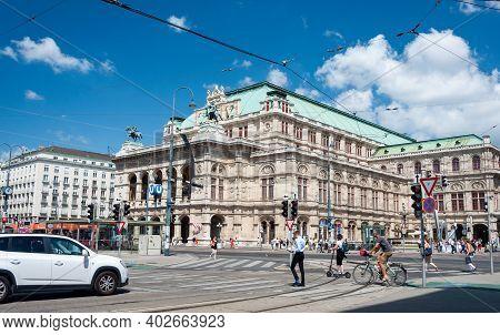 Vienna, Austria - August 01, 2019: Vienna State Opera House (wiener Staatsoper), Former Vienna Court
