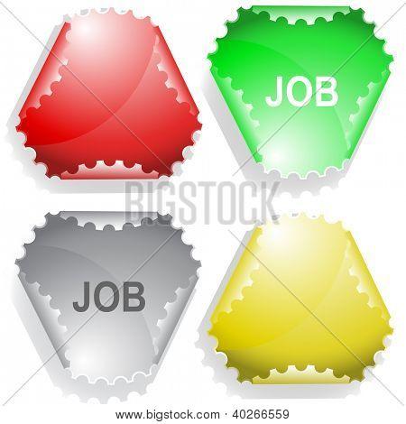 Job. Raster sticker. Vector version is in my portfolio.