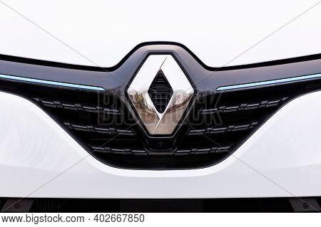 Prague, Czech Republic - November 24, 2020: Logo Of Renault Vehicle In Prague, Czech Republic, Novem