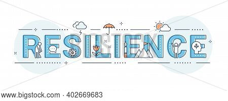 Resilience, Coping With Stress And Crisis. Vector Design