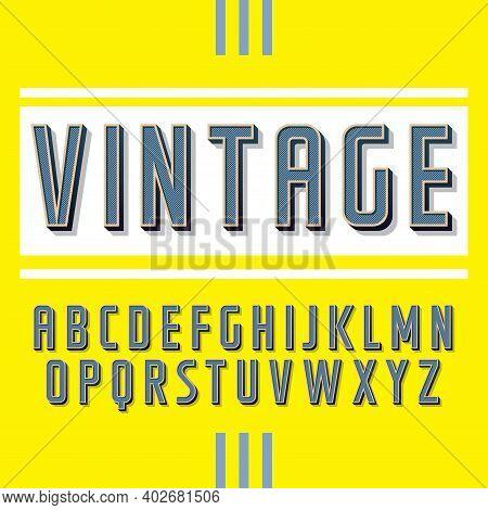 Vintage Label Typeface Handcrafted Font For Any Label Design.
