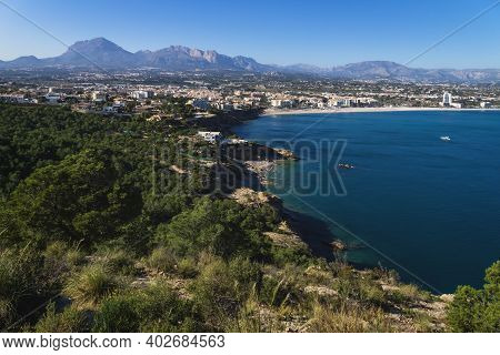 Mediterranean Landscape With View To Albir In Serra Gelada Mountains, Albir, Costa Blanca, Spain