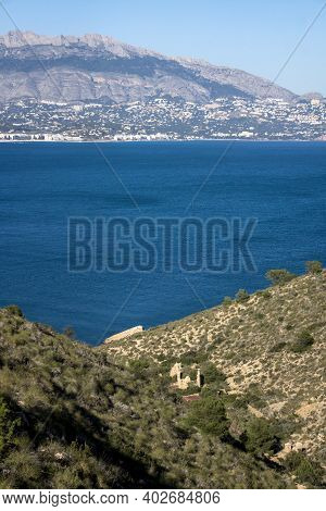 Natural Park Serry Gelada With View To Altea And Ruin Of Ocher Mine Along The Coast Of Albir, Costa