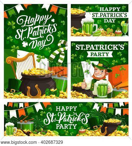 Smiling Leprechaun Showing Ok Sign, Greetings On St. Patricks Day. Vector Happy Saint Patricks Holid