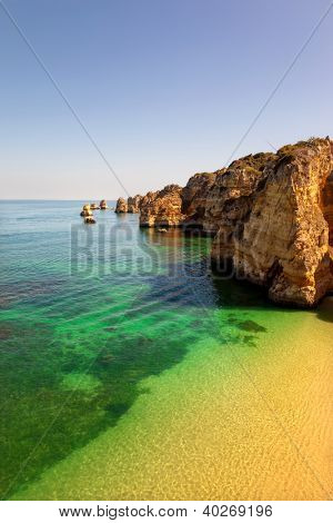 Dona Ana beach at Lagos, Algarve, Portugal poster