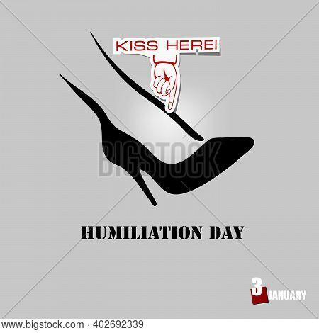 Banner For The Event Is Celebrated On January 3 - Humiliation Day