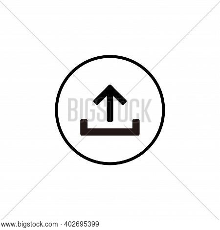 Upload Icon Vector. Upload Icon Vector Isolated On White Background. Upload Icon Vector Simple And M