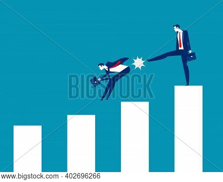 Business Punish Partnership. Business Competition Concept. Flat People